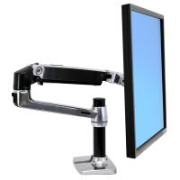 Ergotron LX Desk Mount LCD Display Arm Polished Aluminium Max size 32in Max weight 11.3kg
