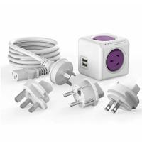 Allocacoc PowerCube ReWireable 2 USB 2 Outlets with 3 Plugs and AU IEC Cable Purple