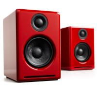 Audioengine 2+ Wireless Desktop Speakers - Gloss Red