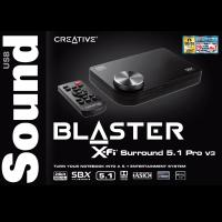 Creative Sound Blaster X-Fi Surround 5.1 Pro v3 USB Sound Card