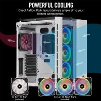 Corsair Crystal 680X RGB Tempered Glass Mid Tower EATX Case - White