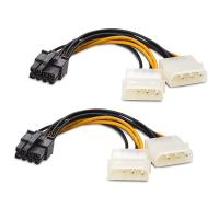 Generic 2 x Molex to 8 Pin PCIe 15cm Cable