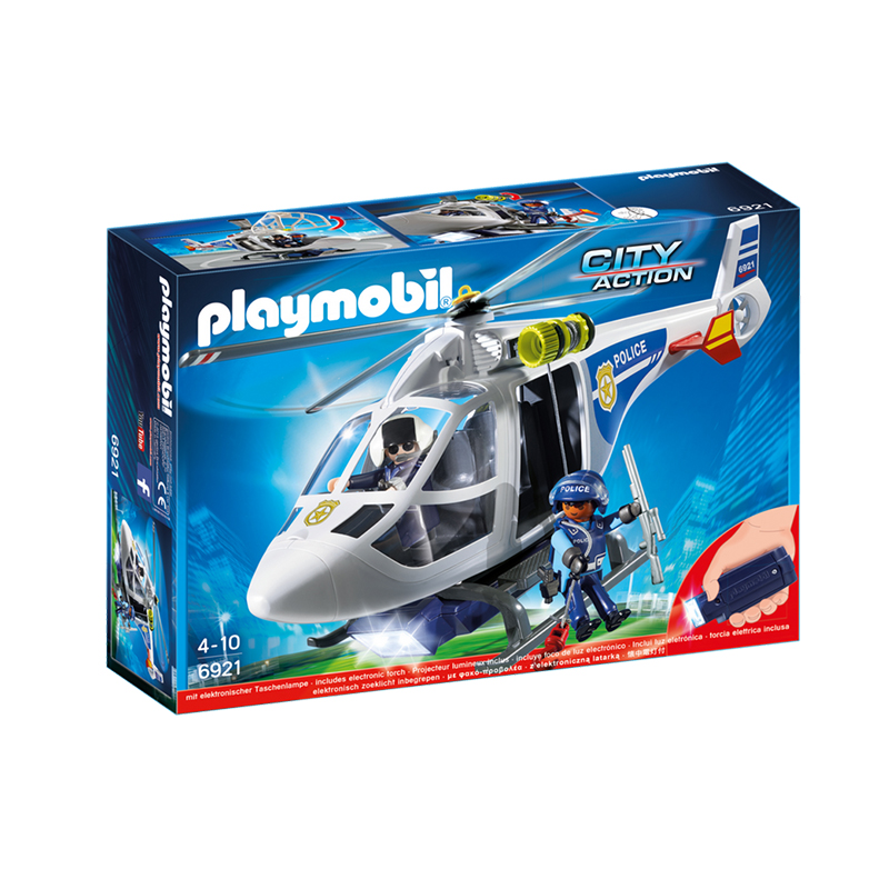 Playmobil Police Helicopter with LED Searchlight