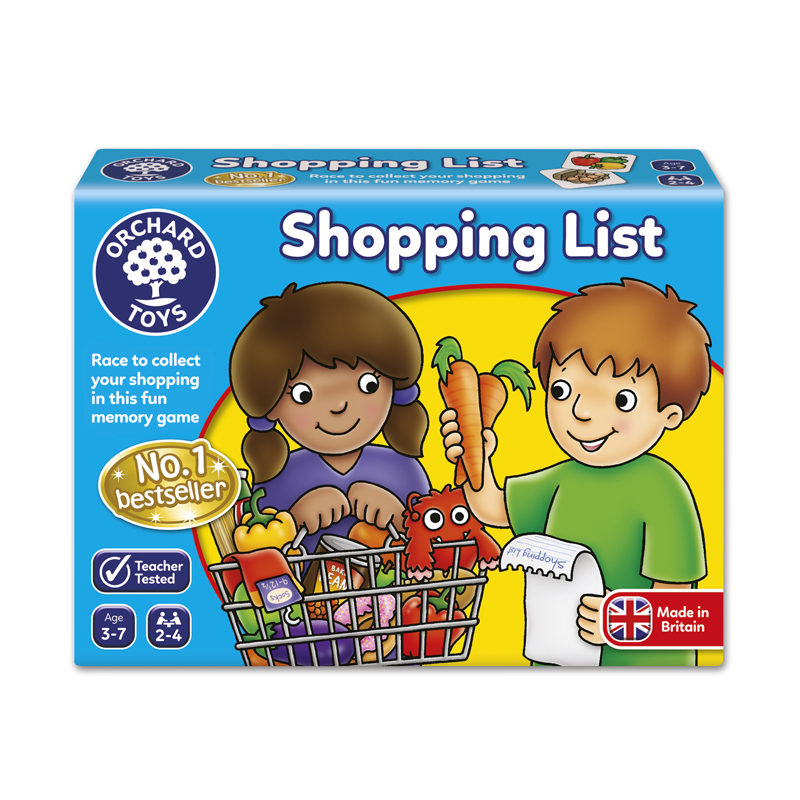 Orchard Game Shopping List