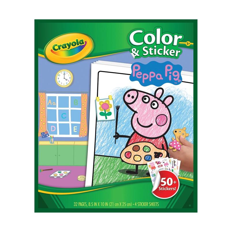 Crayola Color & Sticker Book Peppa Pig