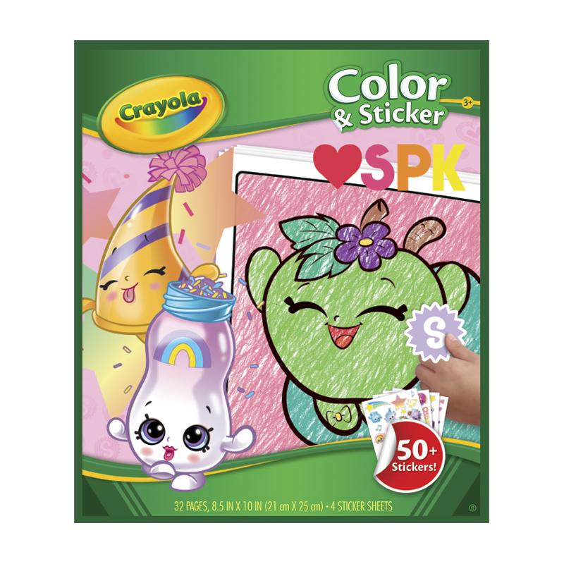 Crayola Color & Sticker Book Shopkins