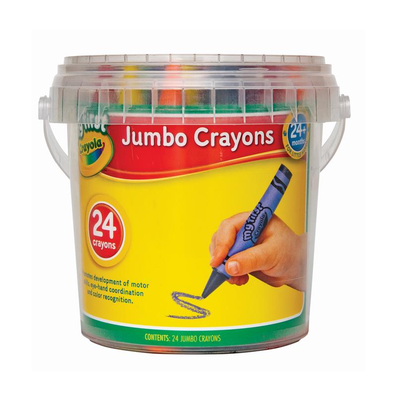 Crayola 24 My First Crayons in storage tub