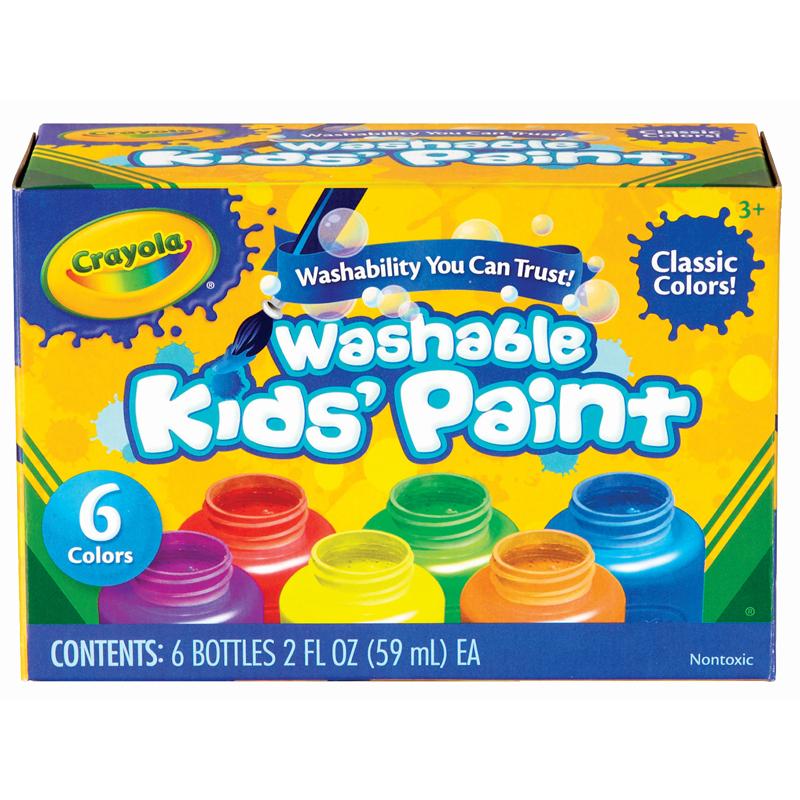 Crayola 6 Washable Kid's Paints