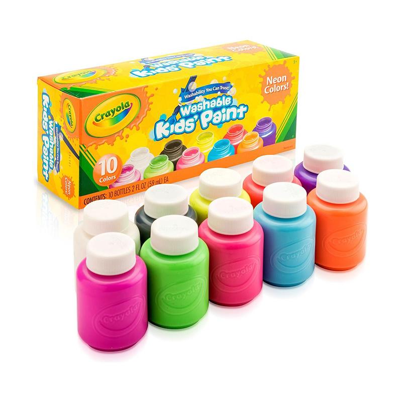 Crayola 10ct Washable Neon Paint