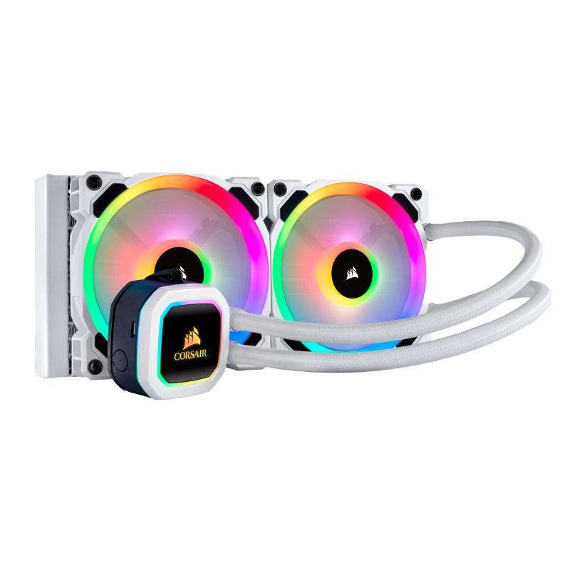Corsair H100i 240mm RGB Platinum SE RGB Liquid CPU Cooler - White