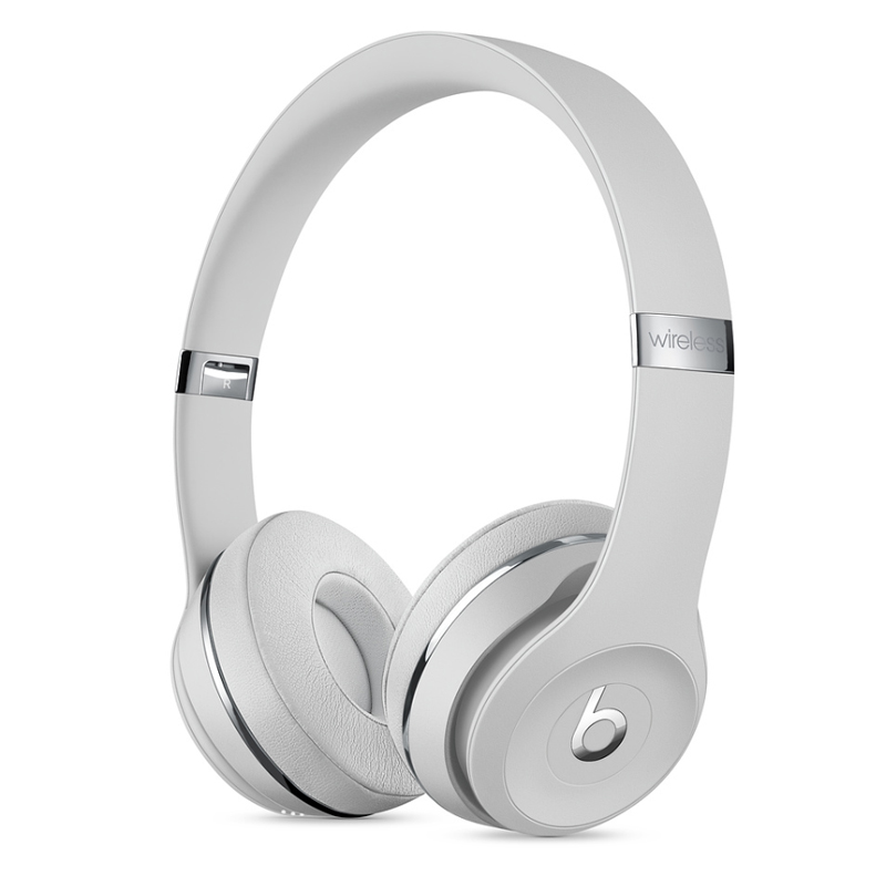 Beats Solo3 Wireless On-Ear Headphones Satin Silver