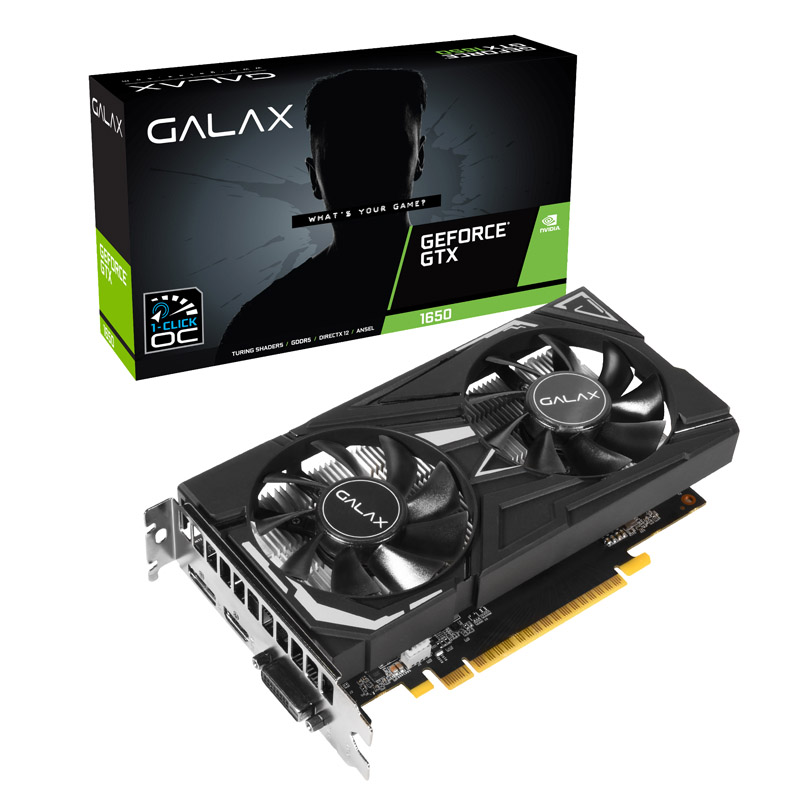 Galax GeForce GTX 1650 EX-1-CLICK-OC-4GB 4G OC Graphics Card