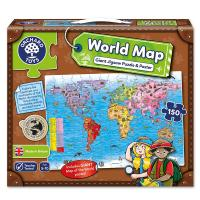Orchard Jigsaw World Map Puzzle & Poster 150pcs