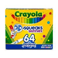 Crayola 64 Pip-Squeak Skinnies Markers