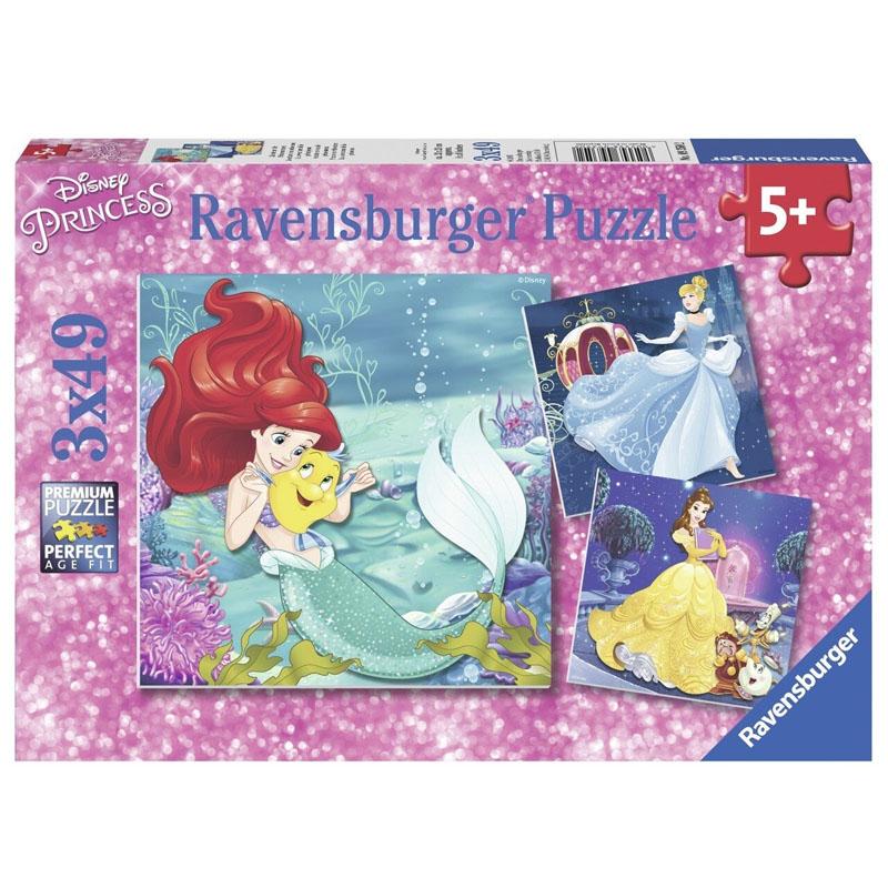 Ravensburger Disney Princesses Adventure 3x49pcs