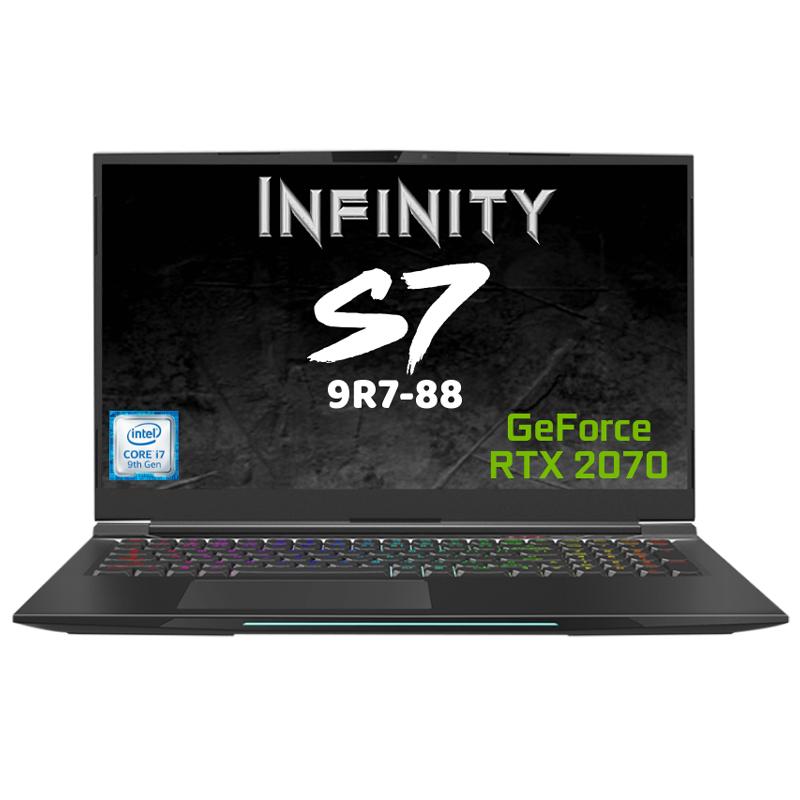 Infinity 17.3in FHD 144Hz i7 9750H RTX 2070 512GB SSD 16GB RAM W10H Gaming Laptop (S7-9R7-88)