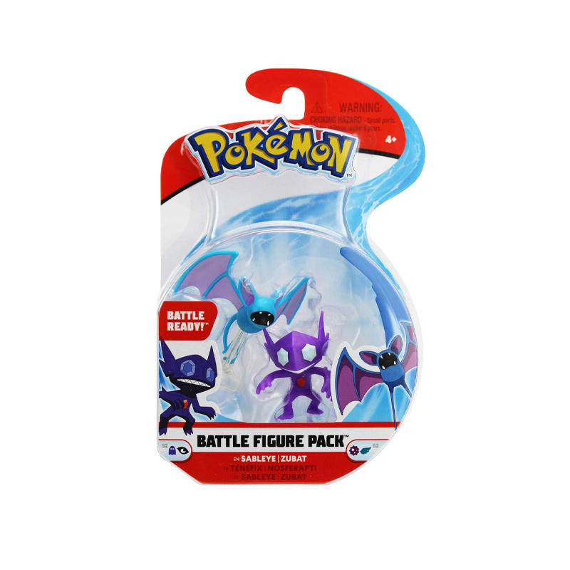 "Pokemon Battle Figure Pack 2"" & 3"" Sableye & Zubat"