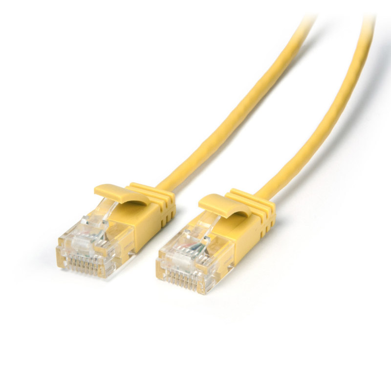 Connect Cat 6 Ethernet Ultra slim Cable 0.50m Yellow