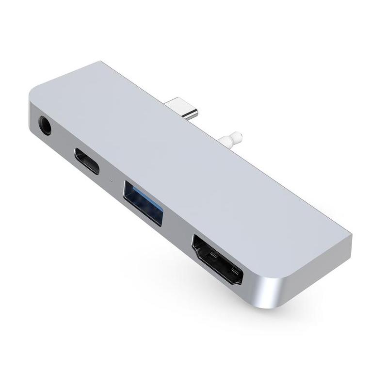 HyperDrive Microsoft Surface Go USB-C Hub - Silver