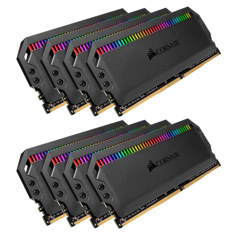 Corsair 64GB (8x8GB) CMT64GX4M8X3600C18 Dominator Platinum RGB 3600MHz DDR4 RAM