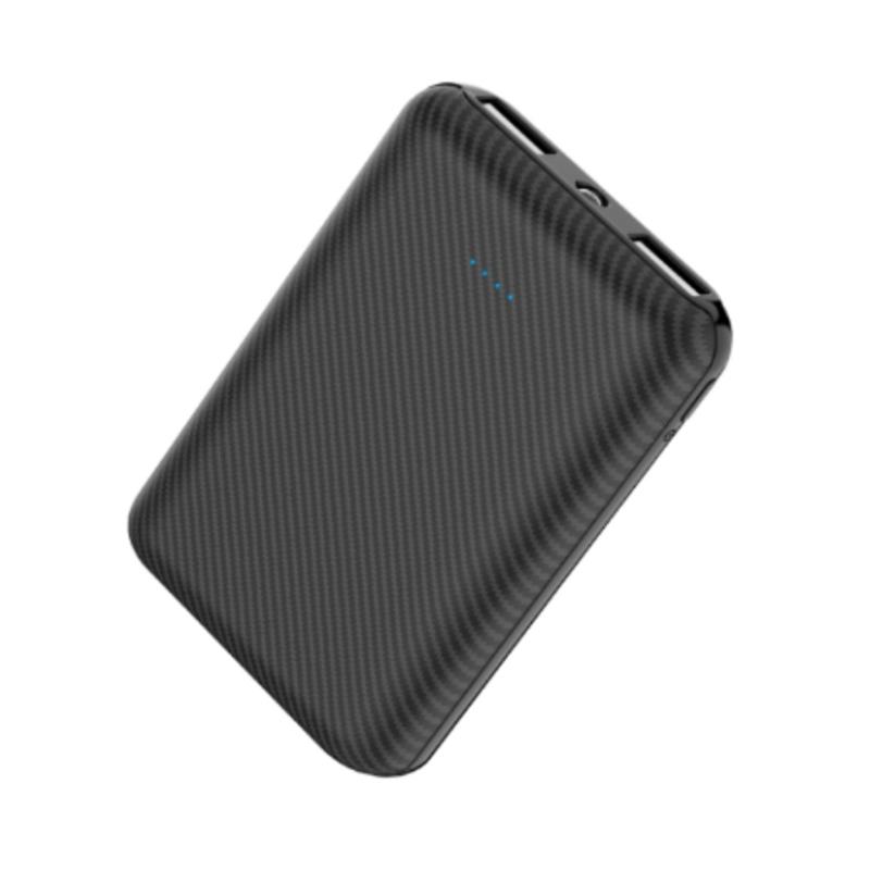 Xipin M1 10000mAh 5V2.1A Dual USB Output Ultra Small Powerbank Black