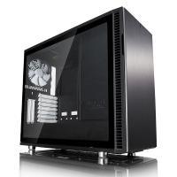 Fractal Design Define R6 USB C Tempered Glass Mid Tower EATX Case - Black