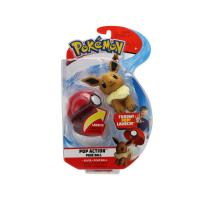 Pokemon Pop Action Pokeballs Eevee & Poke Ball