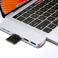 HyperDrive Duo MacBook Pro USB-C Multifunction Hub - Silver