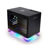 Inwin A1 Plus Tempered Glass ARGB Mini-ITX Case with 650W PSU and Qi Charger - Black