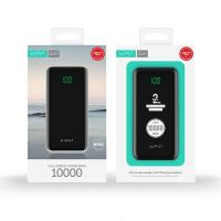 Xipin T23 10000mAh Dual USB Output Powerbank w LCD Display Black