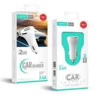 Xipin CX23 5V2.4A Dual USB Output Car Charger mini Design White