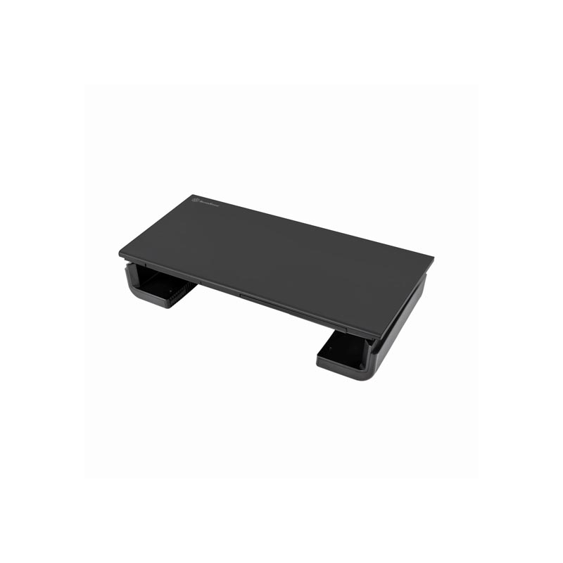 SilverStone MR02B Adjustable Monitor Stand w Drawers