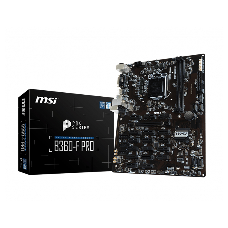 MSI B360-F PRO Intel Socket LGA 1151 DDR4 S-ATA Full ATX Mining PC Motherboard
