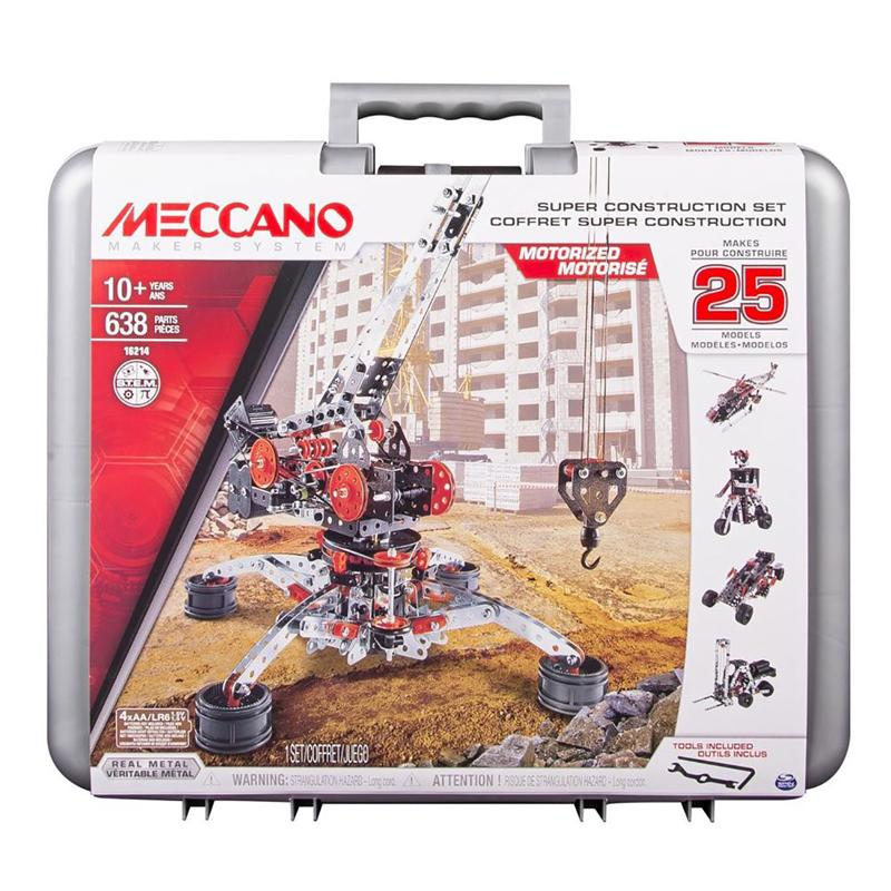 Meccano Super Construction Set in case 638pcs