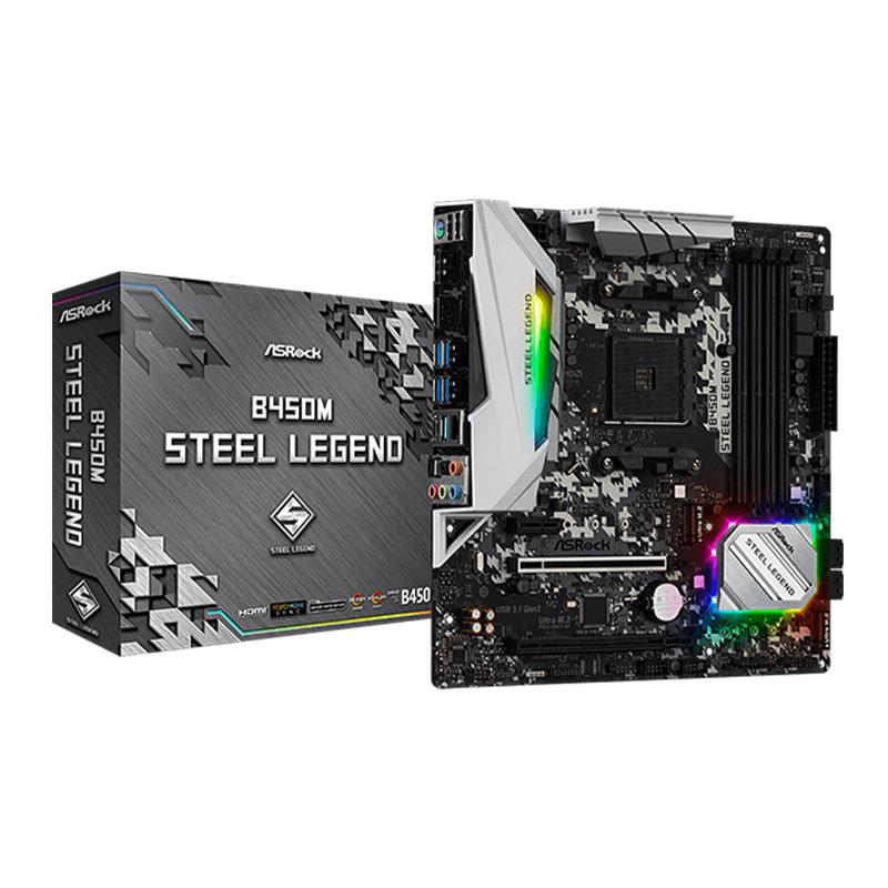 Asrock B450M Steel Legend mATX AM4 Motherboard