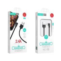 Xipin LX17-MU 1.2M Nylon Fabric L-shaped 2.4 USB A to Micro USB Cable Back