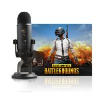 Blue Microphones Yeti 3 Blackout Capsule USB Microphone PUBG Bundle