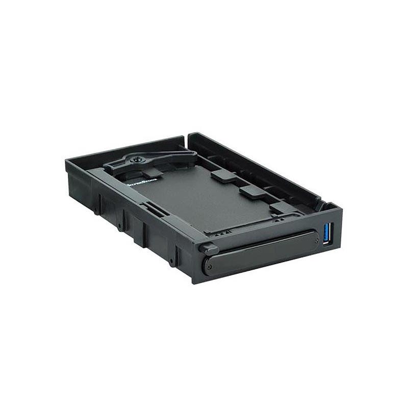 SilverStone Black MS06 2.5in USB3 External Enclosure & 3.5in Hot Swap Bay