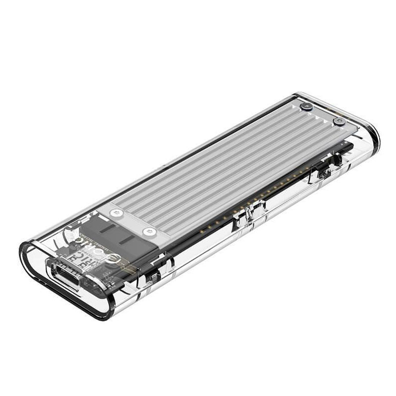 Orico M.2 NVMe SSD to USB Type C Transparent Enclosure - Silver (TCM2-C3-SV)