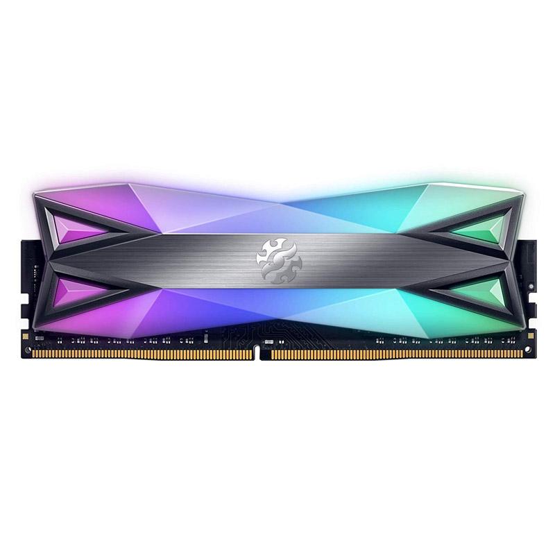 ADATA XPG 16GB (2x8GB) AX4U320038G16-DT60 Spectrix D60G 3200MHz RGB DDR4  RAM - Titanium Gray