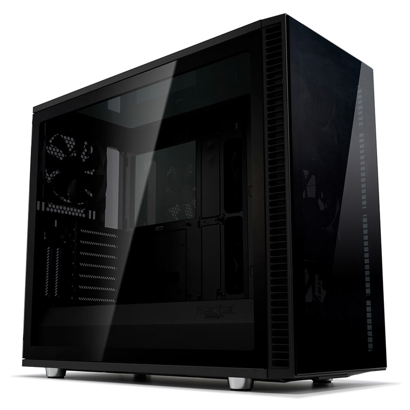 Fractal Design Define S2 Vision Tempered Glass Mid Tower E-ATX Case - Blackout