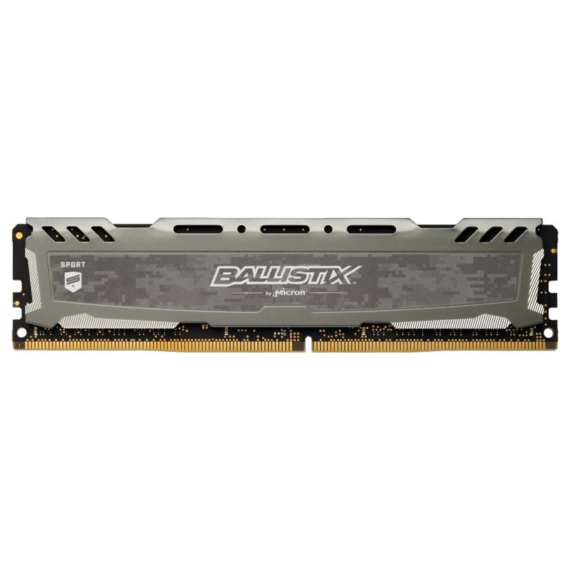 Crucial Ballistix Sport LT 16GB(1x16GB) DDR4 UDIMM 3000MHz Gaming Memory Grey