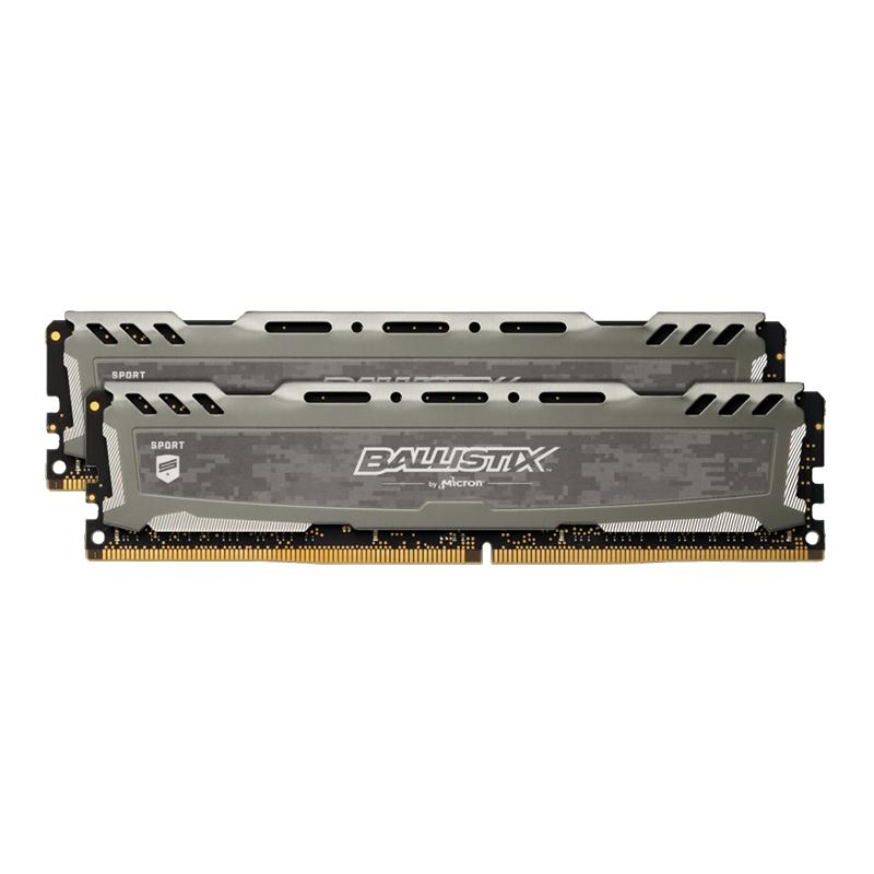 Crucial Ballistix Sport LT 16GB (2x8GB) DDR4 UDIMM 3000MHz Gaming Memory Grey