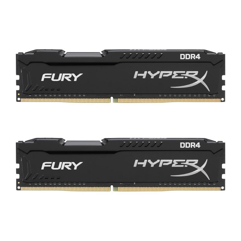 Kingston HyperX 32GB (2x16GB) HX426C16FBK2/32 Fury 2666MHz DDR4 RAM - Black