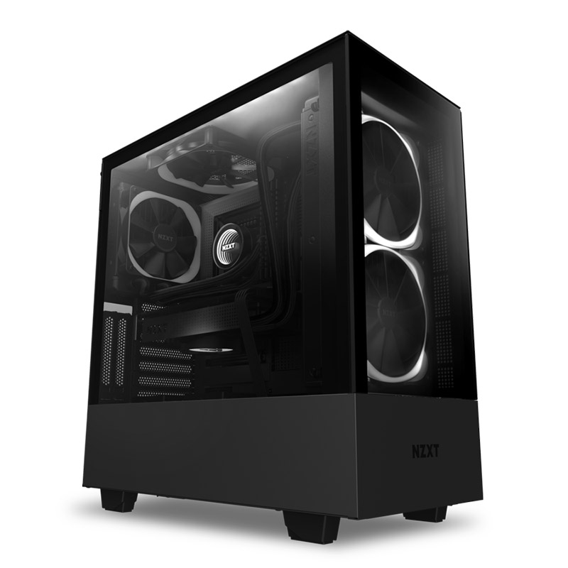 NZXT H510 Elite Tempered Glass Mid Tower ATX Case - Matte Black