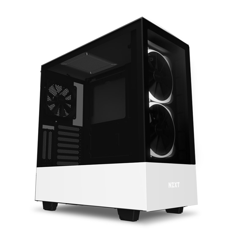 NZXT H510 Elite Tempered Glass Mid Tower ATX Case - Matte White