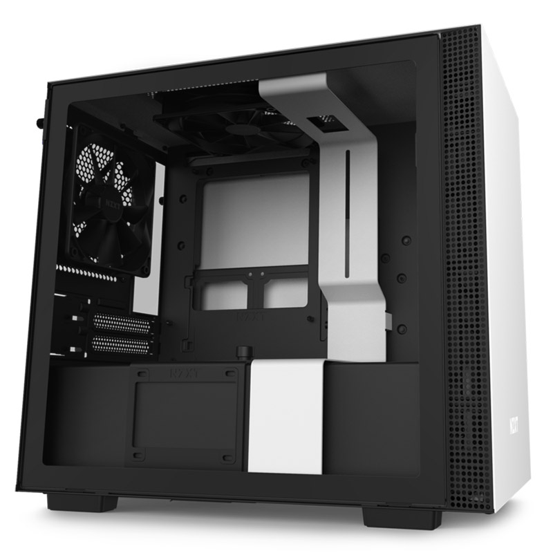 NZXT H210 Tempered Glass Mini Tower ITX Case - Matte White