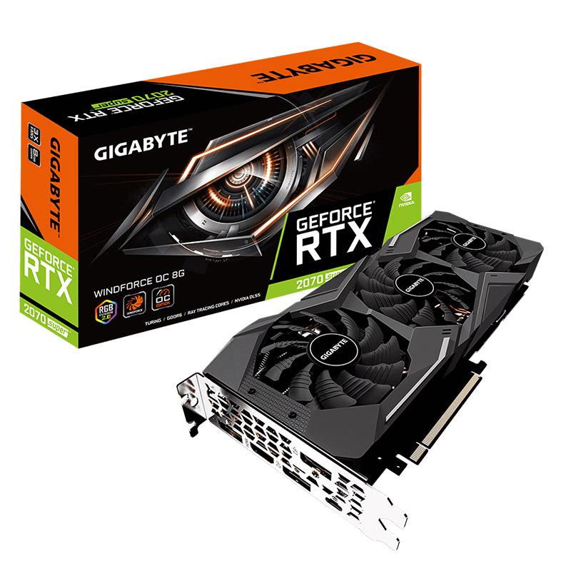 Gigabyte GeForce RTX 2070 Super Windforce 8G OC Graphics Card