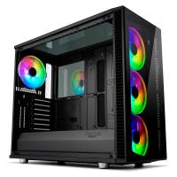 Fractal Design Define S2 Vision Tempered Glass RGB Mid Tower E-ATX Case - Blackout