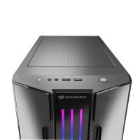 Cougar Gemini-M Grey RGB Tempered Glass Mini Tower Case